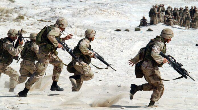 Żołnierz na służbie